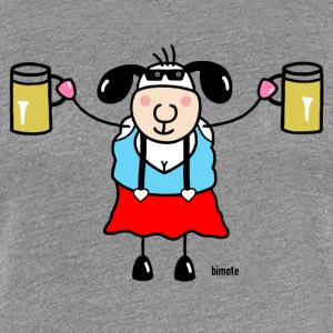 Sheep woman with glass of beer T-Shirts - Women's Premium T-Shirt