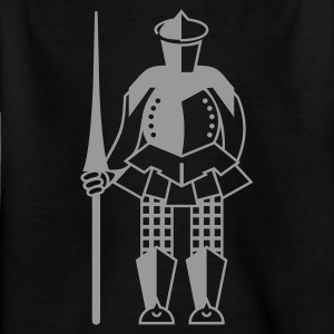 Schwarz Ritter / knight (1c) Kinder T-Shirts - Teenager T-Shirt