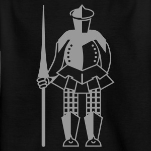 Zwart Ritter / knight (1c) Kinder shirts - Teenager T-shirt