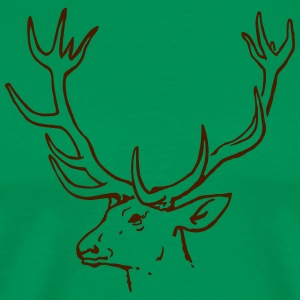 Deer head Stag T-Shirts - Men's Premium T-Shirt