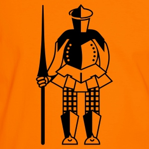 Orange/black Ritter / knight (1c) Men's Tees - Men's Ringer Shirt