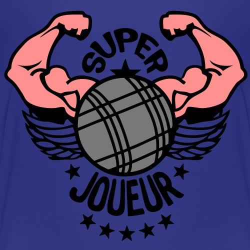 super petanque joueur bras muscle boule