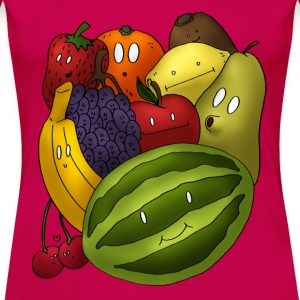 Happy Fruits T-Shirts - Frauen Premium T-Shirt