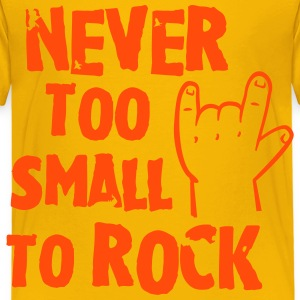 never too small to rock Shirts - Kids' Premium T-Shirt