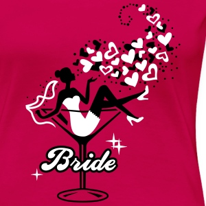 Bride - Braut - Team - JGA - Cocktail - Herz - 2C T-Shirts - Women's Premium T-Shirt
