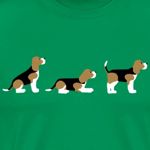 sit down stay beagle 2 T-Shirts - Men's Premium T-Shirt