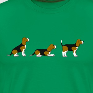 sit down stay beagle 1 T-shirts - Premium-T-shirt herr