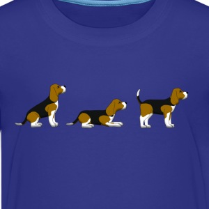 sit down stay beagle 1 Shirts - Teenage Premium T-Shirt
