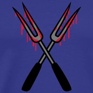 Bloody Barbecue Forks T-skjorter - Premium T-skjorte for menn