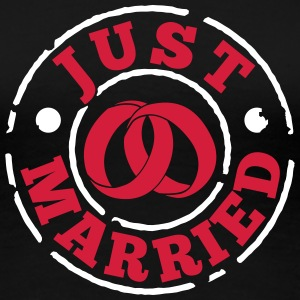 just_married T-Shirts - Women's Premium T-Shirt