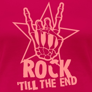 rock 'till the end star T-Shirts - Women's Premium T-Shirt