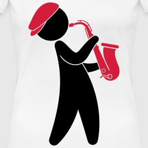 A jazz musician playing on the saxophone T-Shirts - Women's Premium T-Shirt