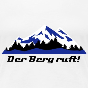 Berge, Winter, Alpen, Lanschaft T-Shirts - Frauen Premium T-Shirt