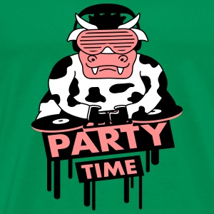 Party Time DJ Cow T-shirts - Mannen Premium T-shirt