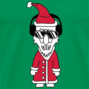 Cool Party DJ Santa Claus T-shirts - Herre premium T-shirt