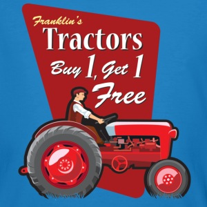 Franklin's Tractors Blue - Men's Organic T-shirt