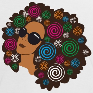 big_bold_afro T-Shirts - Women's Ringer T-Shirt