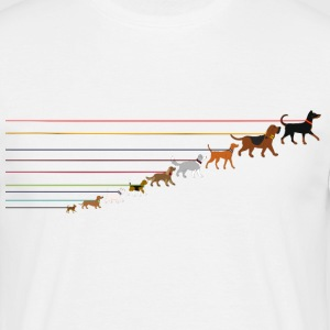 Dogs on a leash 2 Tee shirts - T-shirt Homme