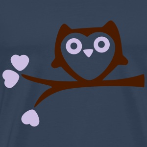Owl with Hearts T-shirts - Premium-T-shirt herr