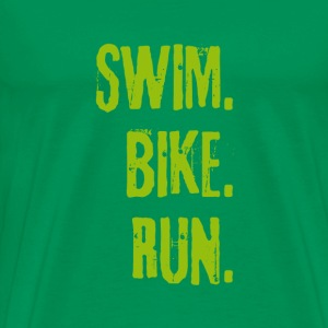 SWIM BIKE RUN T-Shirts - Männer Premium T-Shirt
