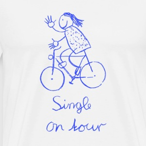 Single on tour, Frau T-Shirts - Männer Premium T-Shirt