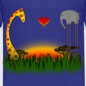 Mr Elephant Loves Mr Giraffe T-shirts - Premium-T-shirt barn
