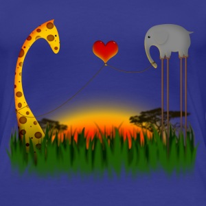 Mr Elephant Loves Mr Giraffe T-shirts - Premium-T-shirt dam