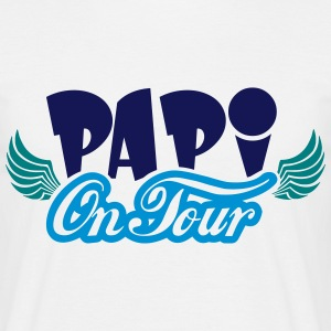 Papi on Tour - Männer T-Shirt