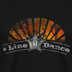 linedance - Premium T-skjorte for menn