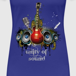 unity of sound guitare Tee shirts - T-shirt Premium Femme