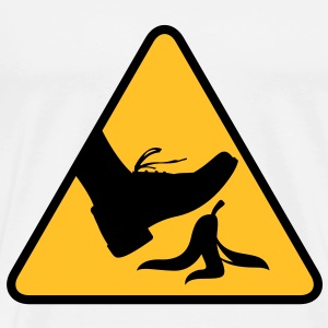 Warning Sign Banana (2c)++2013 T-Shirts - Männer Premium T-Shirt