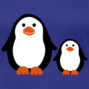 Penguin with Baby Tee shirts - T-shirt Premium Femme