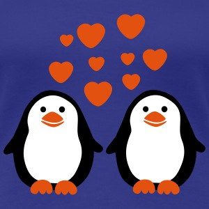Penguins in Love T-shirts - Vrouwen Premium T-shirt