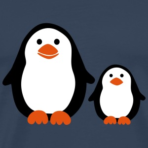Penguin with Baby T-shirts - Mannen Premium T-shirt