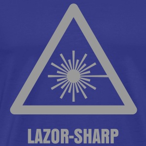 Hazard Symbol - Laser Light T-Shirts - Men's Premium T-Shirt