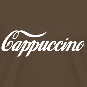 Coffee Worship: Cappuccino T-Shirts - Men's Premium T-Shirt