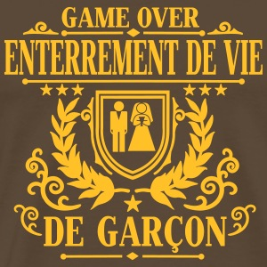 Enterrement de vie de garçon - Game Over T-Shirts - Men's Premium T-Shirt