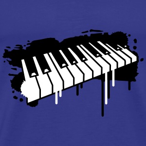 Piano keyboard in graffiti style T-Shirts - Men's Premium T-Shirt
