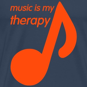 Music is my Therapy T-Shirts - Men's Premium T-Shirt