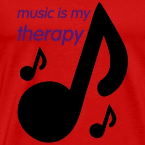 Music is my Therapy Tee shirts - T-shirt Premium Homme