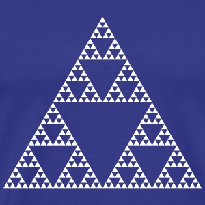 Fractals: Sierpinski Triangle (high detail) T-Shirts - Men's Premium T-Shirt