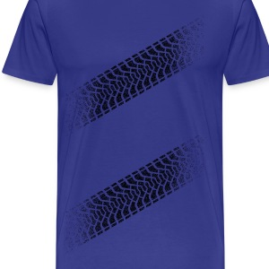 Tire footprint, tire tread (Diagonal, PNG) T-Shirts - Men's Premium T-Shirt