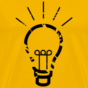 light bulb idea T-shirts - Mannen Premium T-shirt