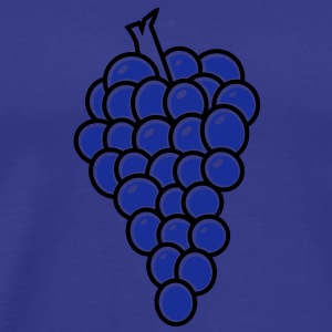 grapes purple hanging down T-Shirts - Men's Premium T-Shirt