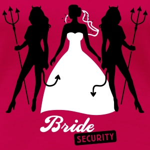 JGA - Bride security - Bride - Team - Teufel 2C T-Shirts - Women's Premium T-Shirt