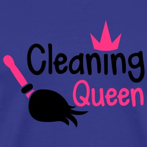cleaning queen with a broom and a royal crown T-Shirts - Men's Premium T-Shirt