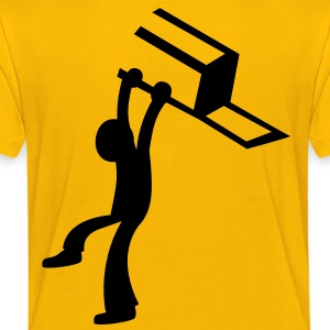 BAR Fight man male throwing a chair Shirts - Kids' Premium T-Shirt