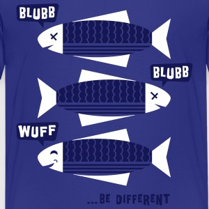 Be Different - Fische - Blubb - Be yourself - 2C T-Shirts - Teenager Premium T-Shirt