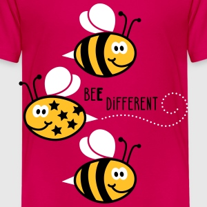 Be different - be yourself - Biene - Bee - 3C T-Shirts - Kinder Premium T-Shirt