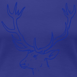 Deer head Stag T-Shirts - Women's Premium T-Shirt